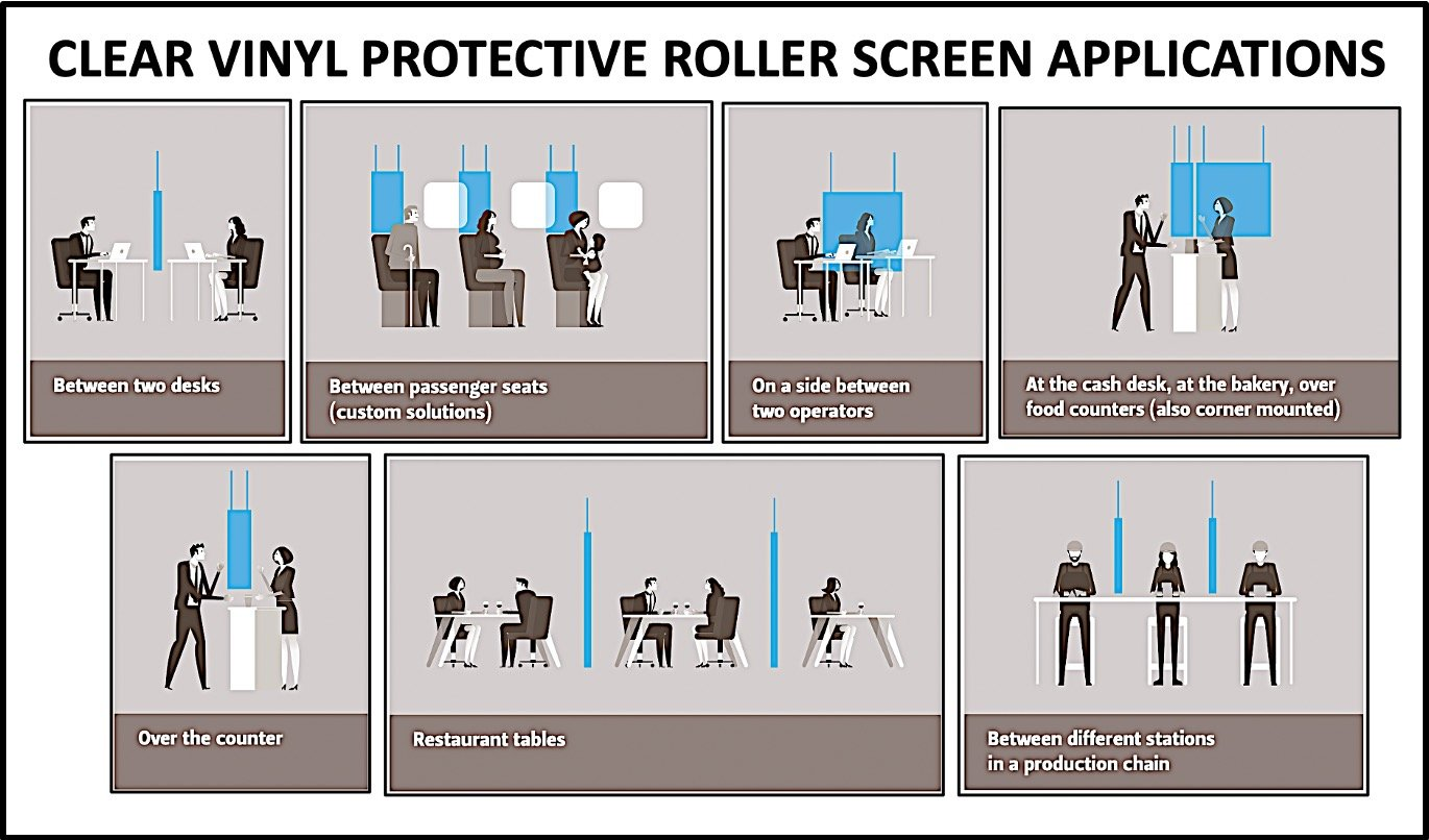 Clear Vinyl Protective Roller Screen