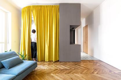 Ripplefold Drapery as Room Dividers