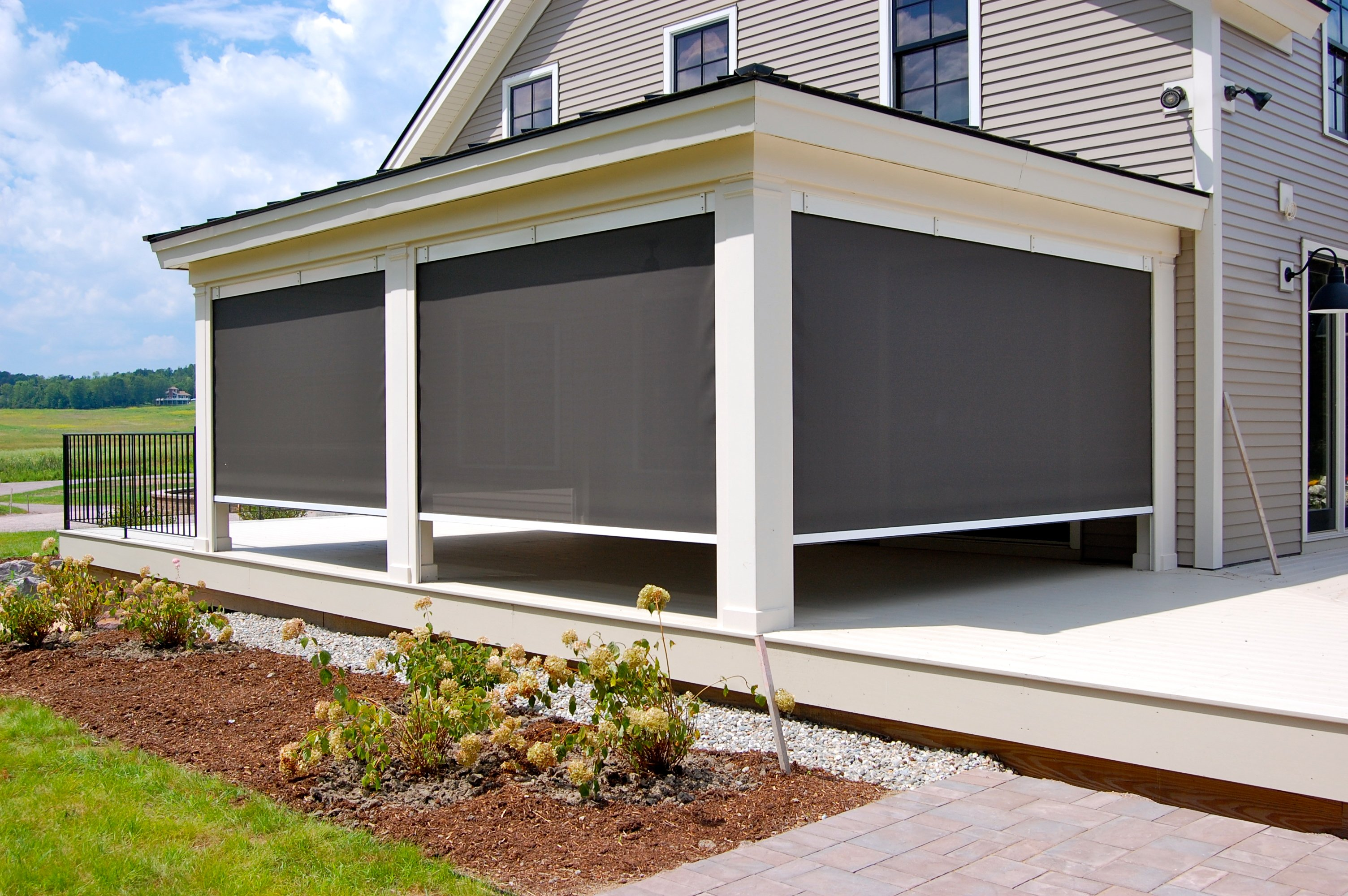 Cable Guided Exterior Shade Residential Custom
