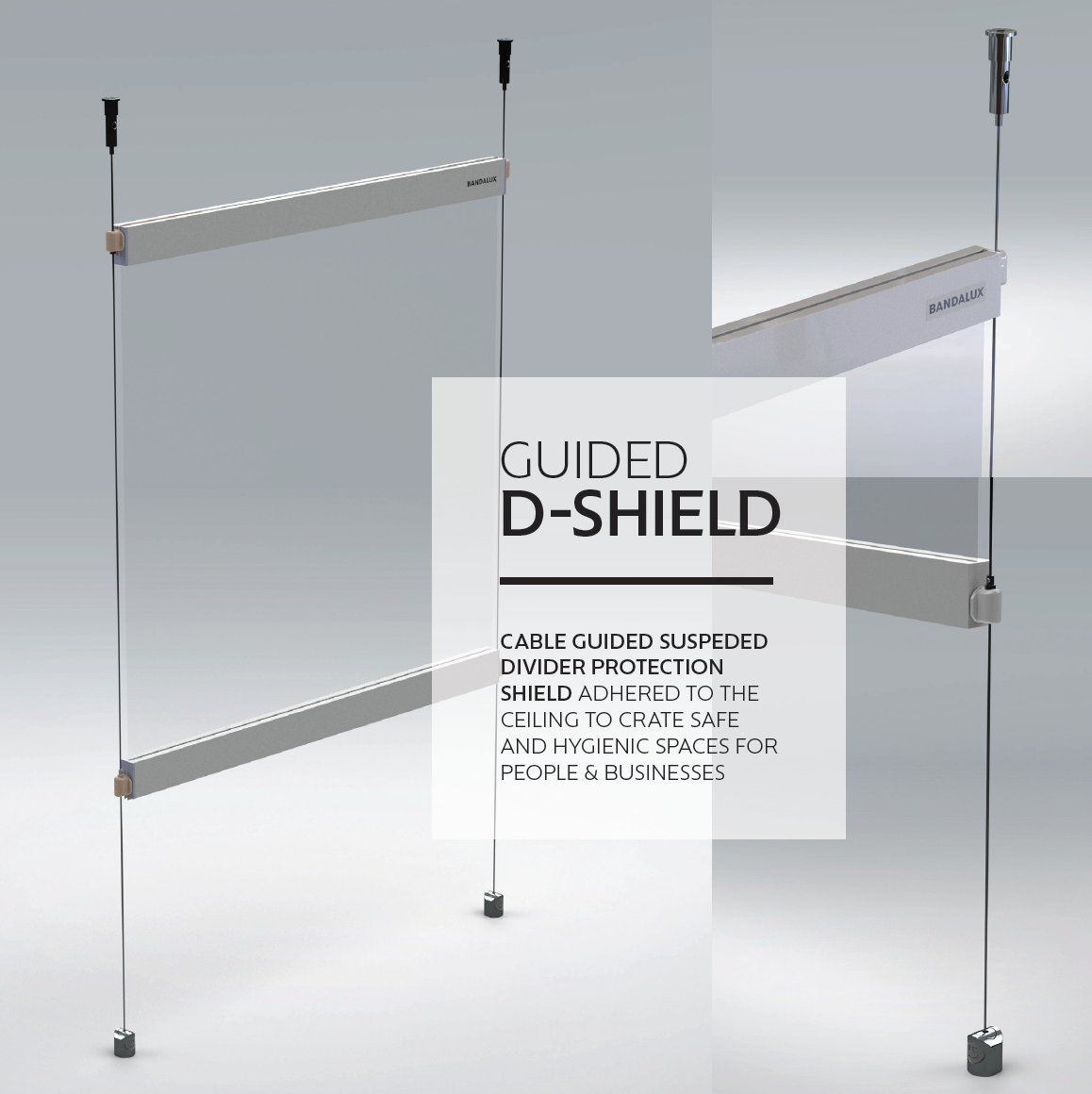 PPE protective vinyl clear roller shade