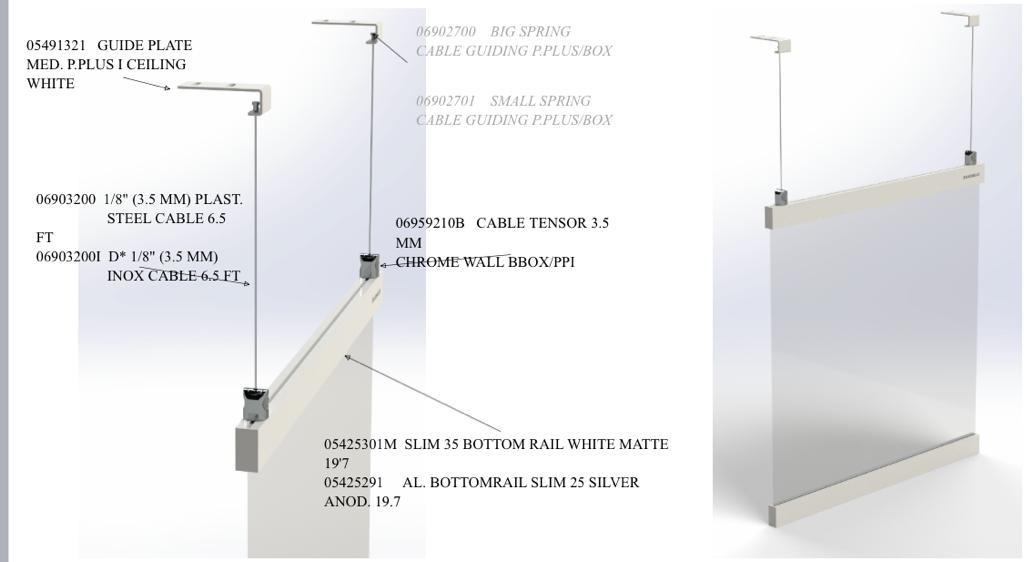 PPE clear vinyl protection barrier for office
